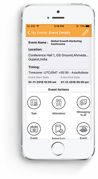 EventsAnywhere as event app for Event organizer